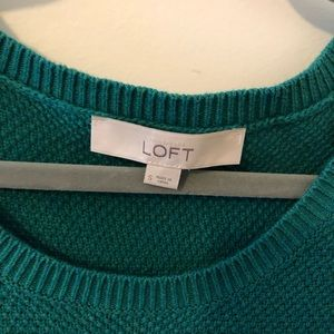 LOFT Sweaters - Teal LOFT Tunic Sweater